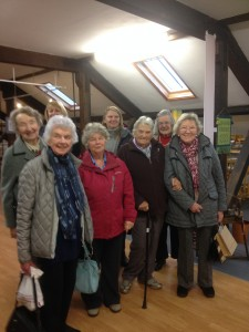 Jennie,Eva,Alison,Mary,Christine,Sheila,Sue and Katie,some of the WI members who enjoyed the day.